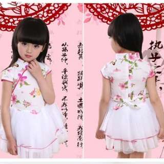 CNY Girl Cheongsam Qipao Dress M01