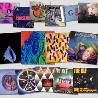 Singles record vinyl erasure klf pet shop marillion new order etc