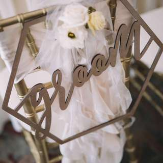 Bride & Groom Signage