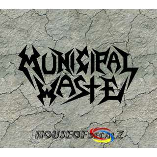 "Custom ""Municipal Waste"" DiecutVinyl Decal No Background"