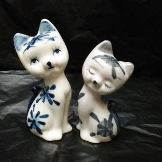 陶瓷 小型 擺設 貓