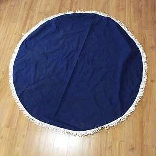 Big Blue Round Mat