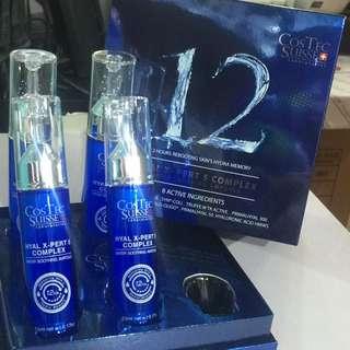 Costec Suisse生命之水5重透明質酸藍銅水精華素