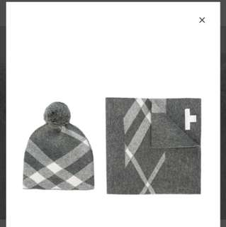 Burberry cashmere beanie & scarf set for children
