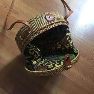 NATIVE RATTAN/STRAW BAG FROM BALI