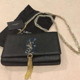 YSL tassel chain clutch/purse