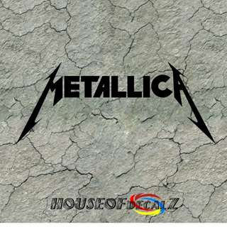 "Custom ""Metallica"" Diecut Vinyl Decal No Background"
