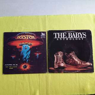2LP. BOSTON/BABY. more than a feeling/ anthology. (2 album for the price of 1) Vinyl record
