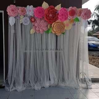 Giant flower photobooth