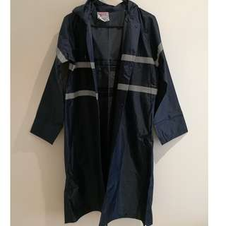 Unisex Navy Blue Raincoat
