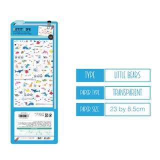 Last 1 Instock (Mix & Match)* Petit Life Q-lia Japan - Marine theme Stickers