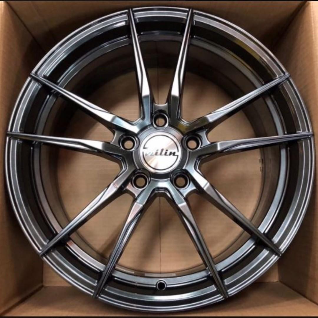 17吋 麒麟鋁圈 T705 輕量化7.3公斤 高亮鈦 搭全新輪胎建大 KR30 215/45/17優惠完工價