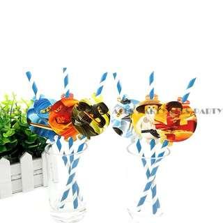 💥Lego Ninjago Party Supplies - party straws / candy bar deco / party deco