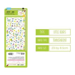 Last 1 Instock (Mix & Match)* Petit Life Q-lia Japan - Birds theme Stickers