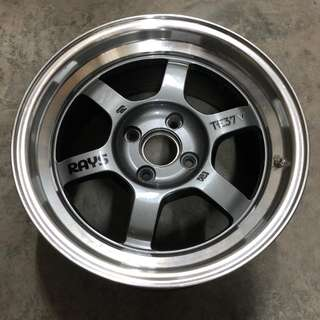 Rays Volk TE37V Forged Wheel (Original) x 4. 15x7.5J 100-4H 25+