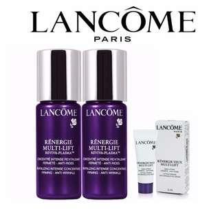 (100% Authentic) 2pcs Lancome Renergie Multi-Lift Reviva-Plasma 10ml Get Free Lancome Eye Cream 3ml