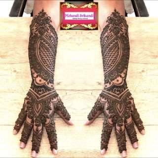 Full Intricate Bridal Henna