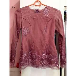 Baju Kurung Moden | pink belacan | wear twice only | size xs |