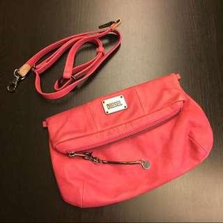 DIESEL 深粉紅色皮袋