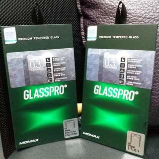 MOMAX GlassPro 0.3mm Slim Thickness 玻璃貼 For Iphone 6,6s,6s Plus,7,7Plus,8,8Plus