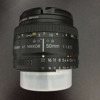 Nikkor lens 50mm f1.8 w/ lens filter