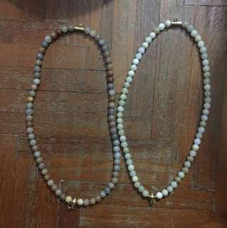 Amulet beads necklace. 2 amulets. Front and back. $20 PER NECKLACE.