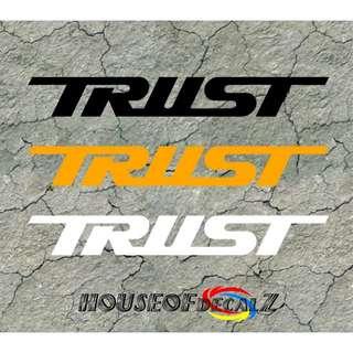 "Custom ""Trust"" Diecut Vinyl Decal No Background"