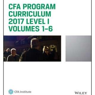 CFA Level 1, Level 2, Level 3 Wiley 2017