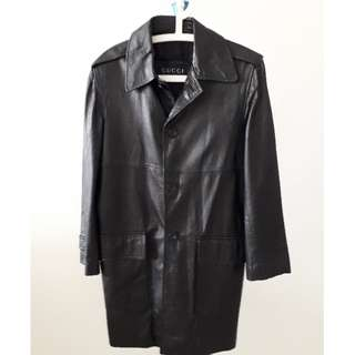 GUCCI Authentic  Black Leather coat for Ladies