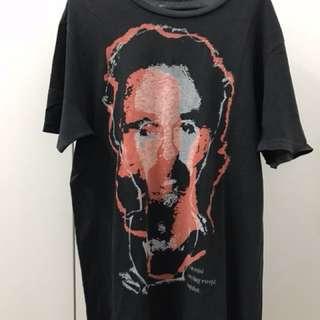 Zara Pictures Face Black T Shirt