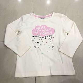 Baju lengan panjang warna putih pink