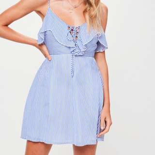 Petite Striped cami dress