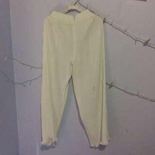 KIMBERLY PLEATES PANTS WHITE