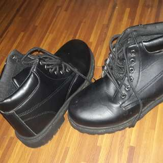 Ankle Martin Black Boots