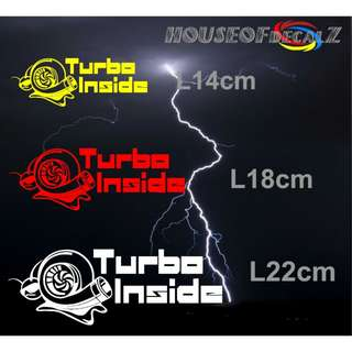 "Customize ""Turbo Snail"" Diecut Vinyl Decal No Background"