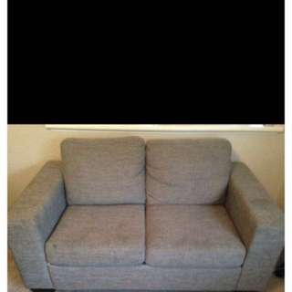 2 seater silver couch