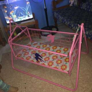 Pink Crib Swing