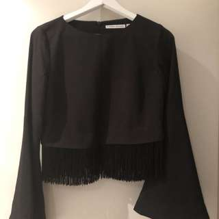 Finders keepers fringe top XXS