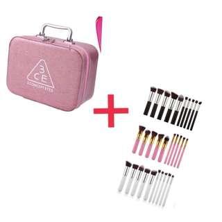 Korean Make Up box with Kabuki brushes