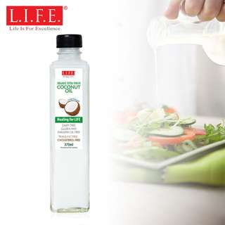F&B Extra Virgin Organic Cold Pressed Coconut Oil VCO 375ml 有機冷壓初榨椰子油 375毫升