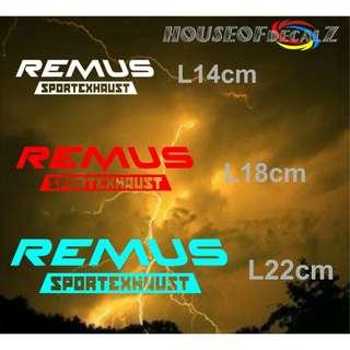 """Customize """"Remus"""" Diecut Vinyl Decal No Background"""