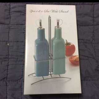 Oil and Vinegar Set with Stand