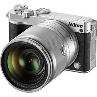 Nikon 1 J5 Mirrorless dengan 10-100mm (Silver)