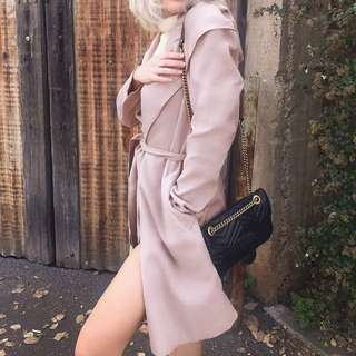 casual hooded trench coat