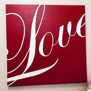 LOVE Hand Painted Art Wall