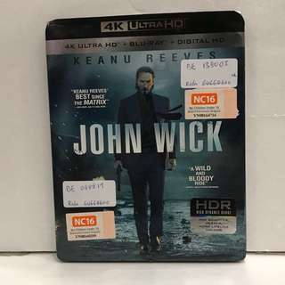 JOHN WICK 1 4K ULTRA HD + BLU RAY + DIGITAL HD