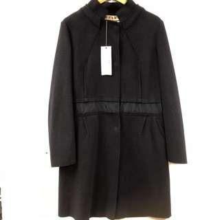 New Marni dark blue navy long jacket size 44