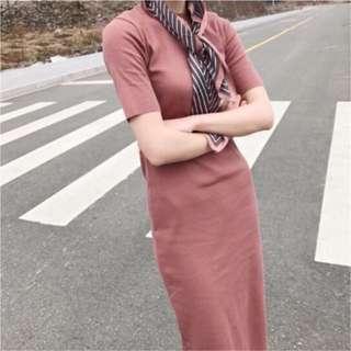 ✨全新✨ 秋季款 韓式超顯瘦質感百搭連身洋裝