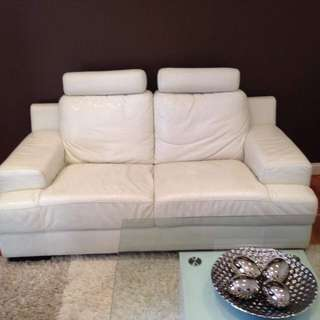 Leather White Couches