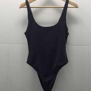 Kookai blueish grey bodysuit